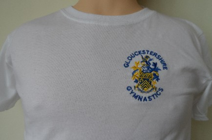 Embroidered sports t shirt